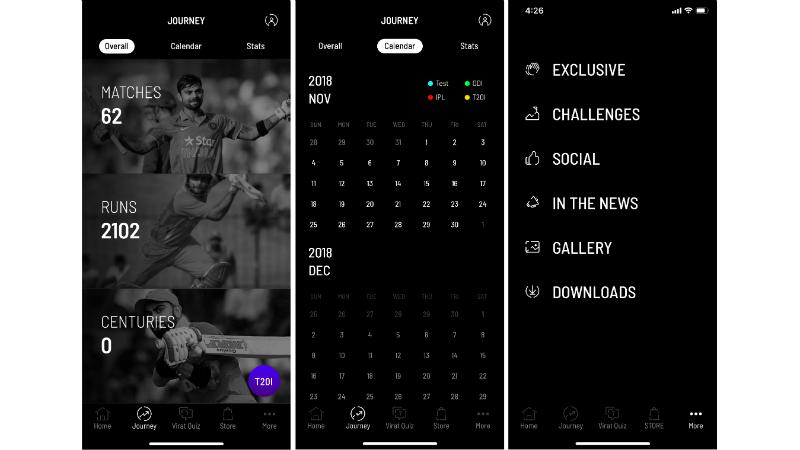 virat kohli app screenshots gadgets 360 Virat Kohli