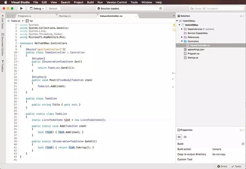 Microsoft Visual Studio for Mac to Launch This Week