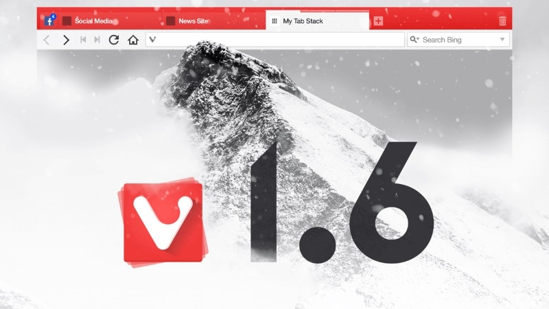 Vivaldi v1.6 Update Brings Along Tab Notifications, Named Tab Stacks, and More
