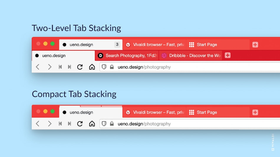 Vivaldi 3.6 Brings Unique Two-Level Tab Stacking for Easy Management