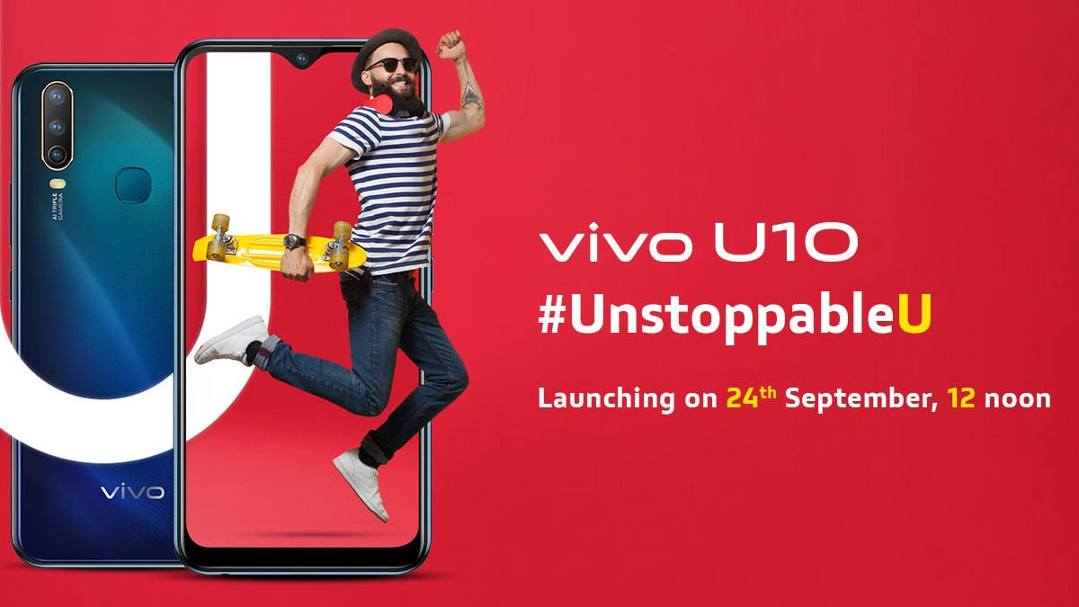 Vivo U10 Key Specifications, Features Revealed Ahead of Tuesday's launch