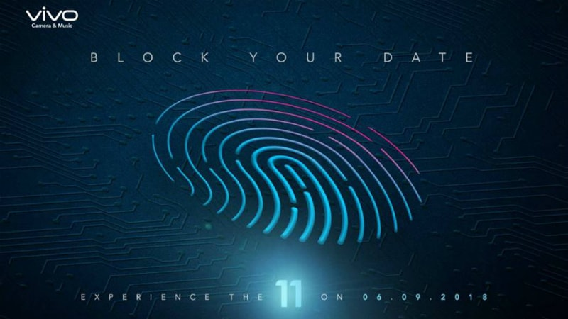 Vivo V11 Pro India Launch Set for September 6