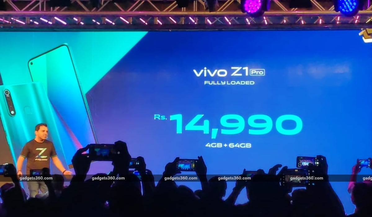 Vivo Z1 Pro With In-Display Camera Launched in India, Price Starts at Rs. 14,990: Event Highlights, Next TGP