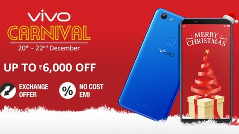 Vivo V5S Discounted as Part of Amazon Sale, Vivo V7 Gets Energetic Blue Colour Variant