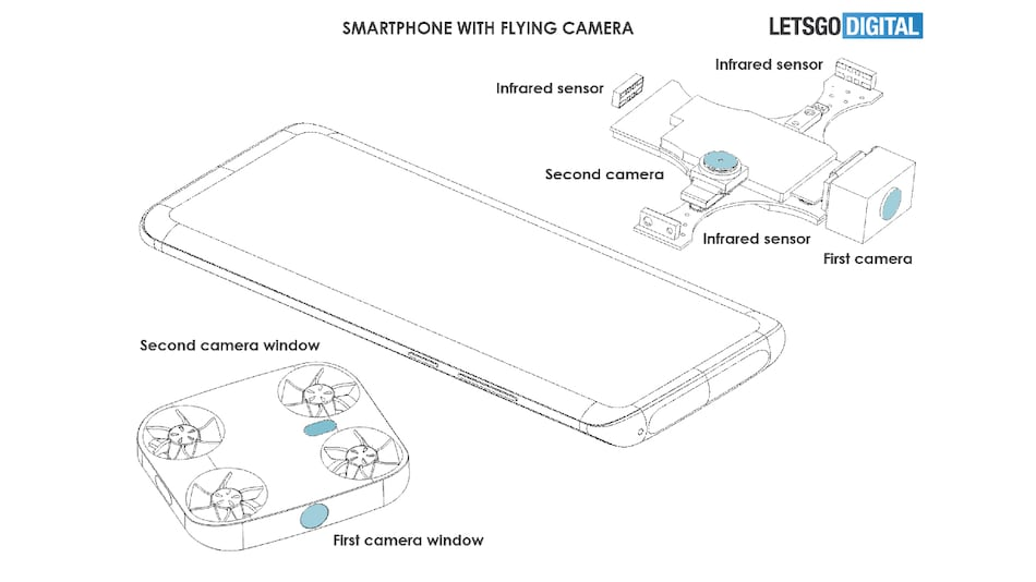 Vivo Patents Smartphone With Detachable Drone-Like Flying Camera Module