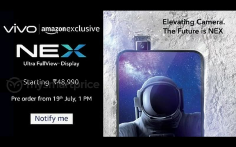 Vivo Nex S India Price Spotted, to Be Called Just 'Nex' in India: Report