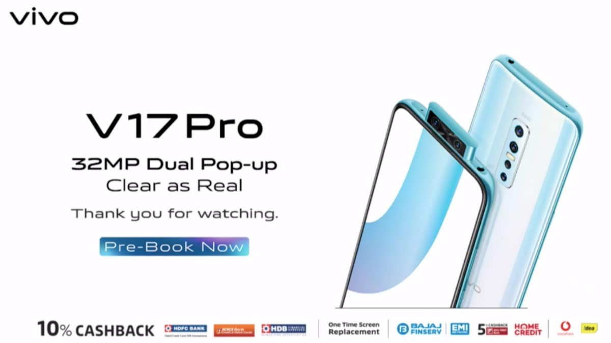 Vivo V17 Pro Price in India Set at Rs. 29,990, Pre-Orders Open Today: Event Highlights