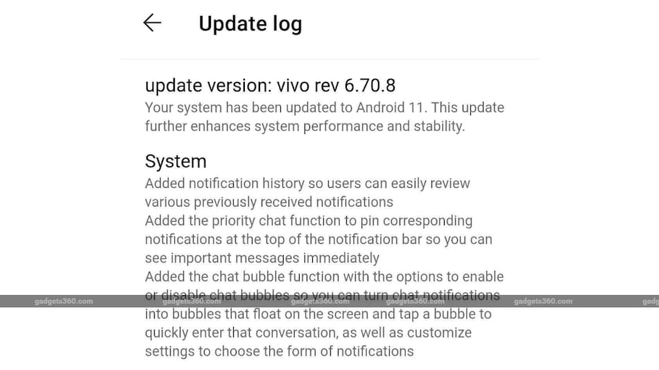 Vivo V20 Pro 5G Starts Receiving Android 11 Update in India