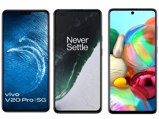 Vivo V20 Pro vs OnePlus Nord vs Samsung Galaxy A71: Price in India, Specifications Compared