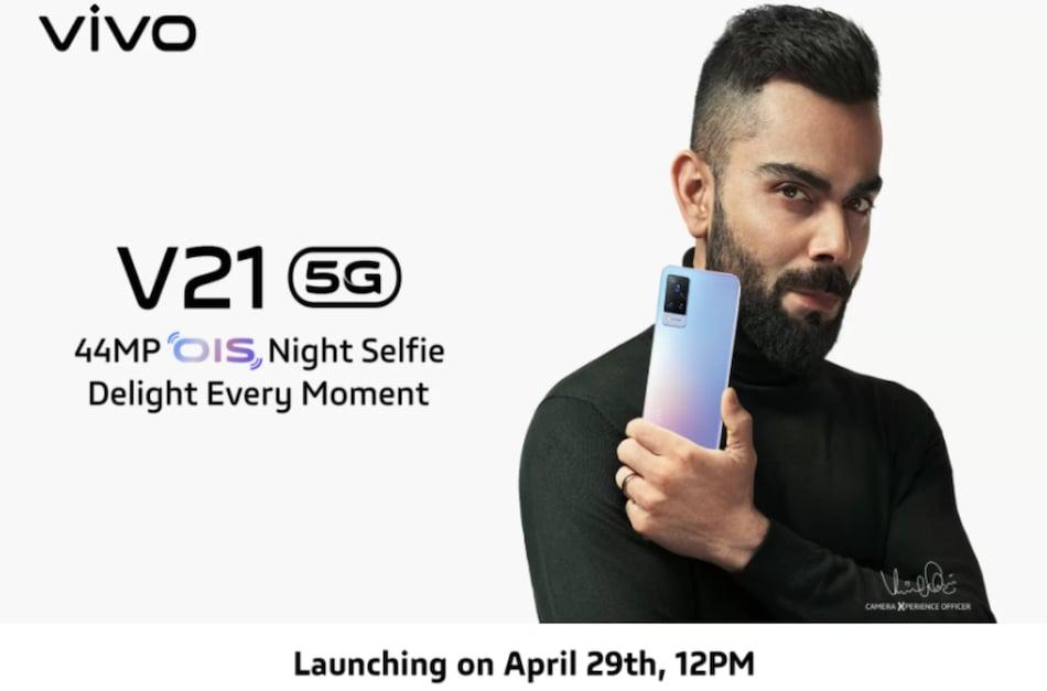 Vivo V21 5G India Launch Confirmed for April 29, Will Go on Sale via Flipkart