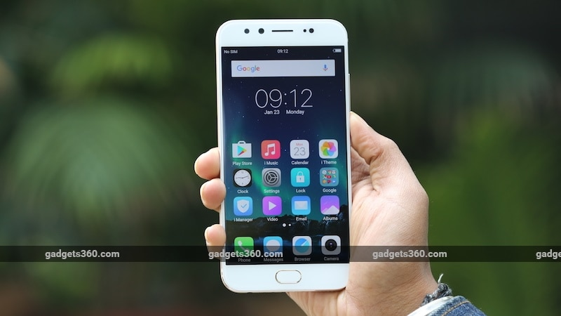 vivo v5 plus front gadgets360 vivo