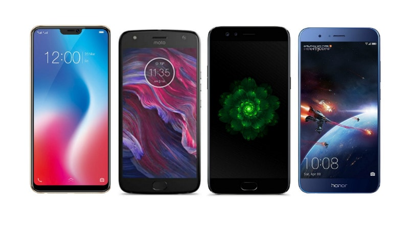 Vivo V9 vs Moto X4, Oppo F3 Plus, Honor 8 Pro: Price in India, Specifications, Features Compared
