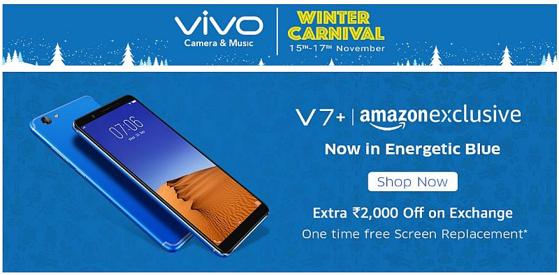 Vivo Winter Carnival on Amazon Offes: Deals on Vivo V7+, Vivo V5 Plus, and More