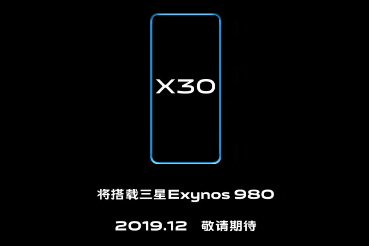 Vivo X30 With Samsung Exynos 980 5G SoC Set to Launch in December, Company Confirms
