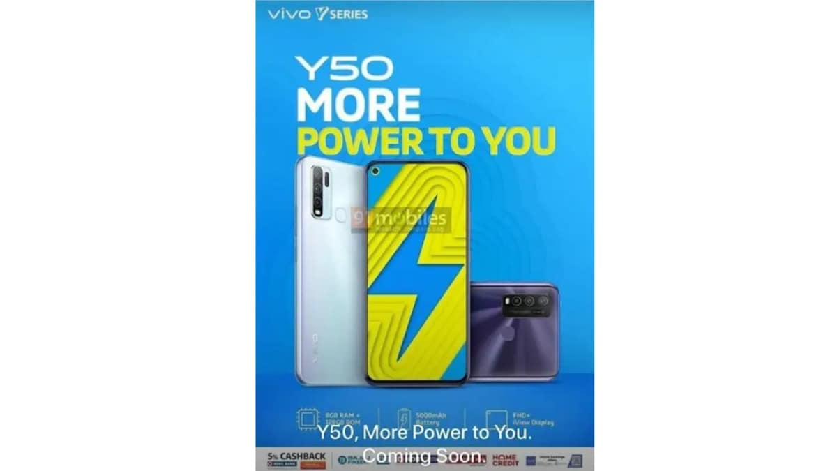Vivo Y50, Vivo Y30 Price in India Leaked, Tipped to Launch Next Week