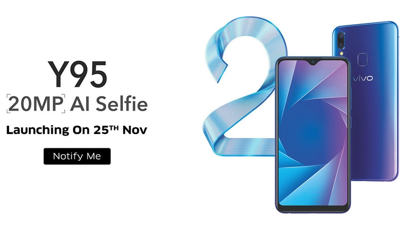 Vivo Y95 India Launch Set for November 25, Price Tipped to Be Around Rs. 20,000