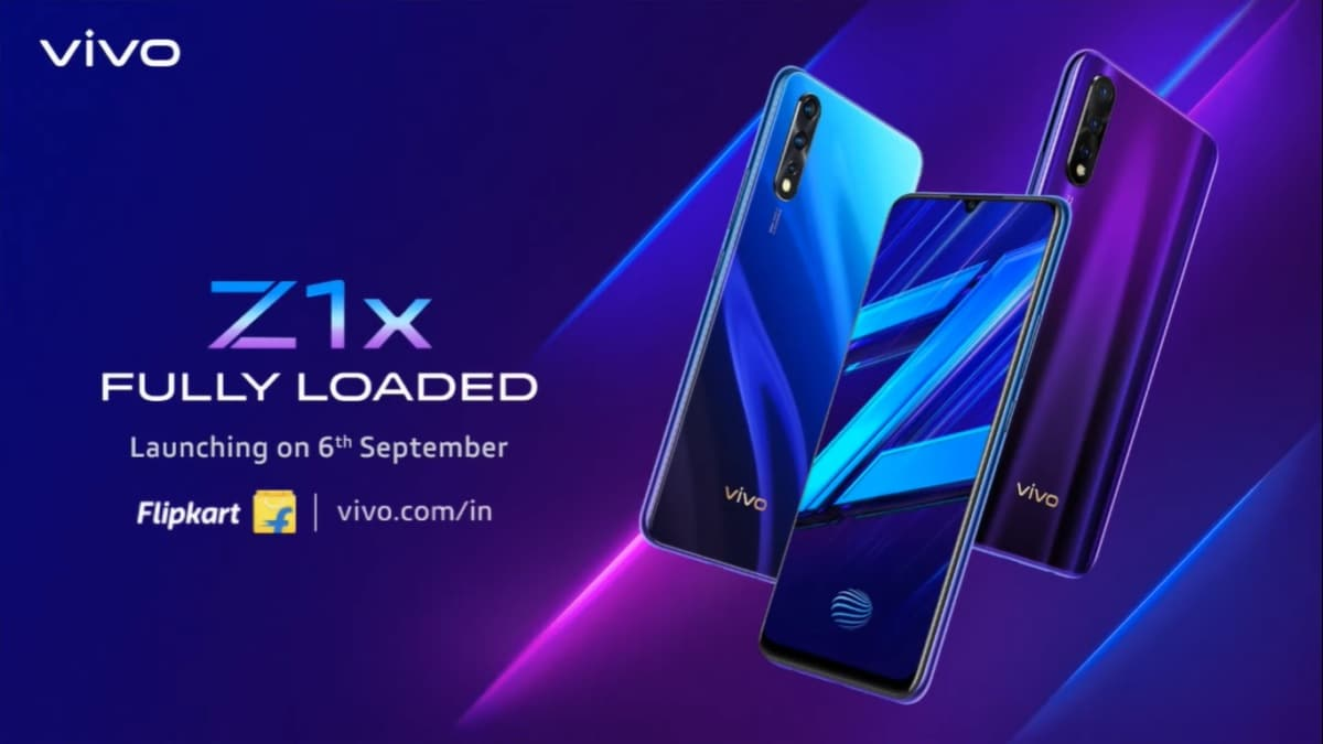 Vivo Z1x India Launch Set for September 6, Will Be Exclusive to Flipkart