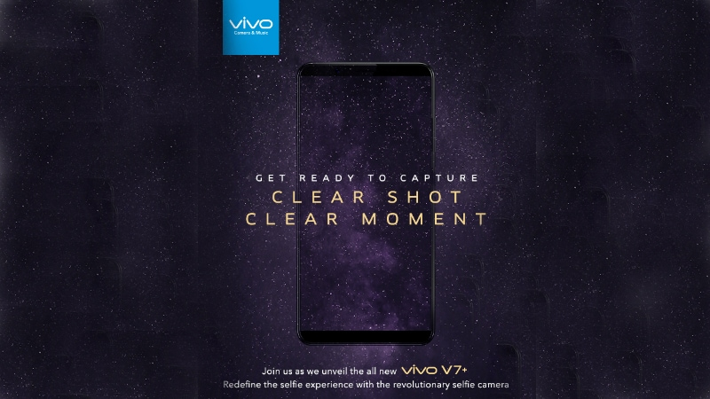 Vivo V7+ India Launch Set for September 7, Will Be a Selfie-Focused Smartphone