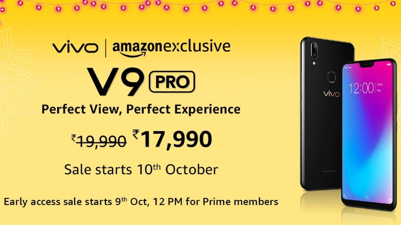 Vivo V9 Pro to Go on Sale for the First Time in India Today: Price, Specifications