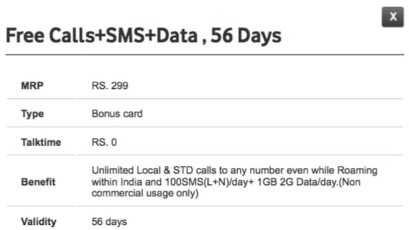 vodafone 299 prepaid pack Vodafone 299 Prepaid Pack