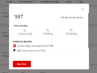 Vodafone Rs. 997 Prepaid Plan With 1.5GB Daily Data, Unlimited Calls, 180-Day Validity Launched