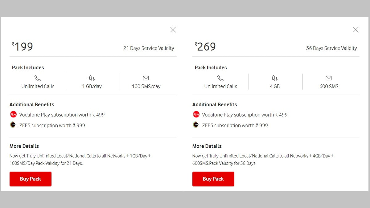 Vodafone Launches 4 New Prepaid Recharge Plans Starting at Rs. 24: Validity, Calling, Data Allowance Details - Gadgets 360 thumbnail