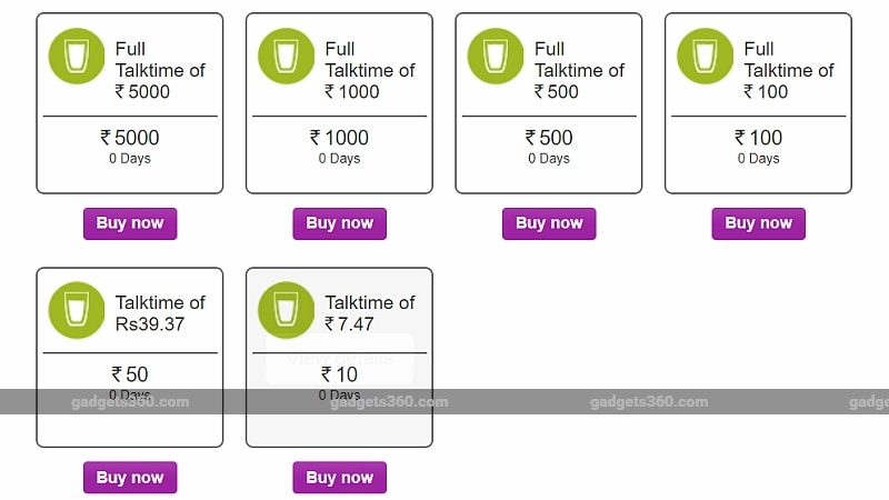 vodafone rs 50 rs 100 rs 500 recharge plans gadgets 360 Vodafone
