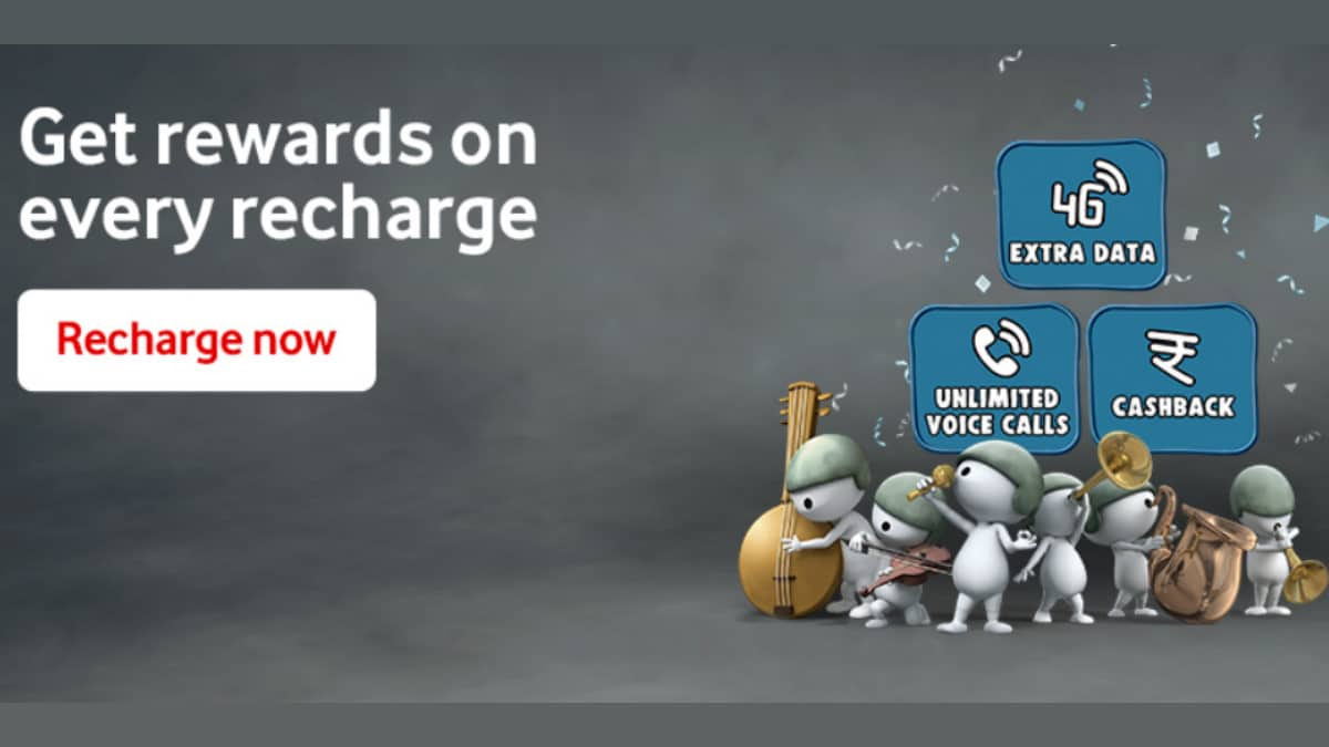 Vodafone 'Har Recharge Pe Inaam' Offer Brings Cashback, Extra Data, Other Rewards on Prepaid Recharges: All You Need to Know