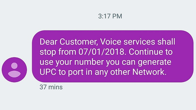 Got an SMS Saying Your Mobile Services Will Stop on January 7? It's Spam