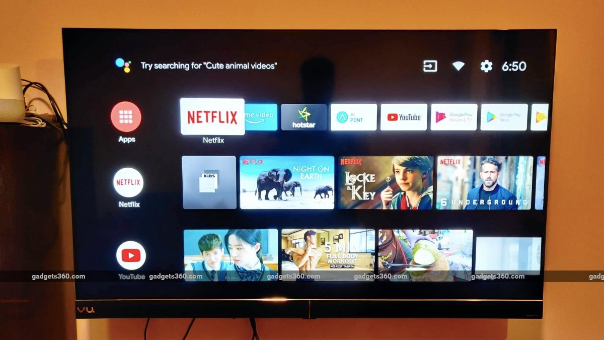 vu cinema tv review android tv ui Vu Cinema TV