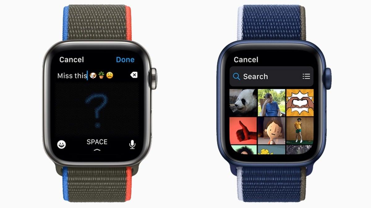 watchos 8 messaging update image apple watchOS 8  Apple