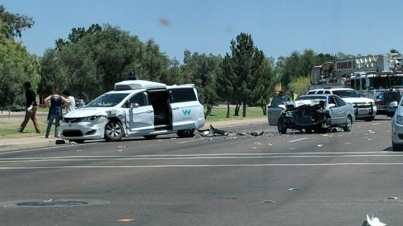 Waymo Self-Driving Car Hit in Collision on Arizona Street