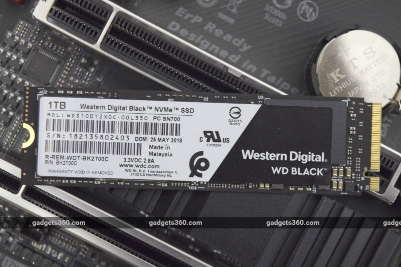 WD Black NVMe SSD (2018) Review | NDTV Gadgets360 com