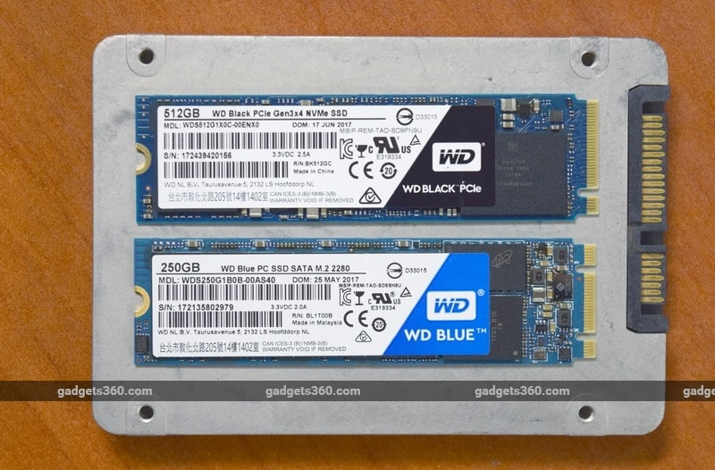 wd blue black SSD size ndtv wd ssd  WD is also retaining its familiar colour-coded product segmentation system – green at the lowest end, blue for mainstream users, and black wd blue black SSD size ndtv 1513072383196