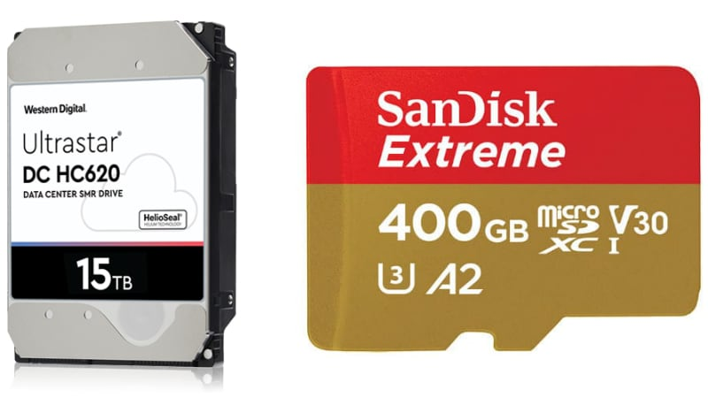 Western Digital Unveils World's First 15TB HDD, Brings 400GB SanDisk Extreme microSD Card to India