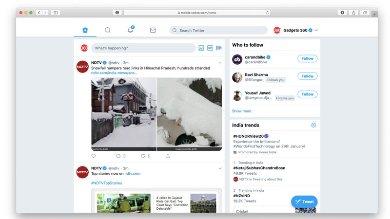 Twitter for Web Gets Redesigned Layout, Dark Mode Set to Improve