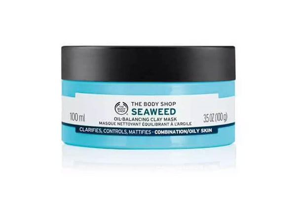 weekend essentials the body shop seaweed oil balancing clay mask