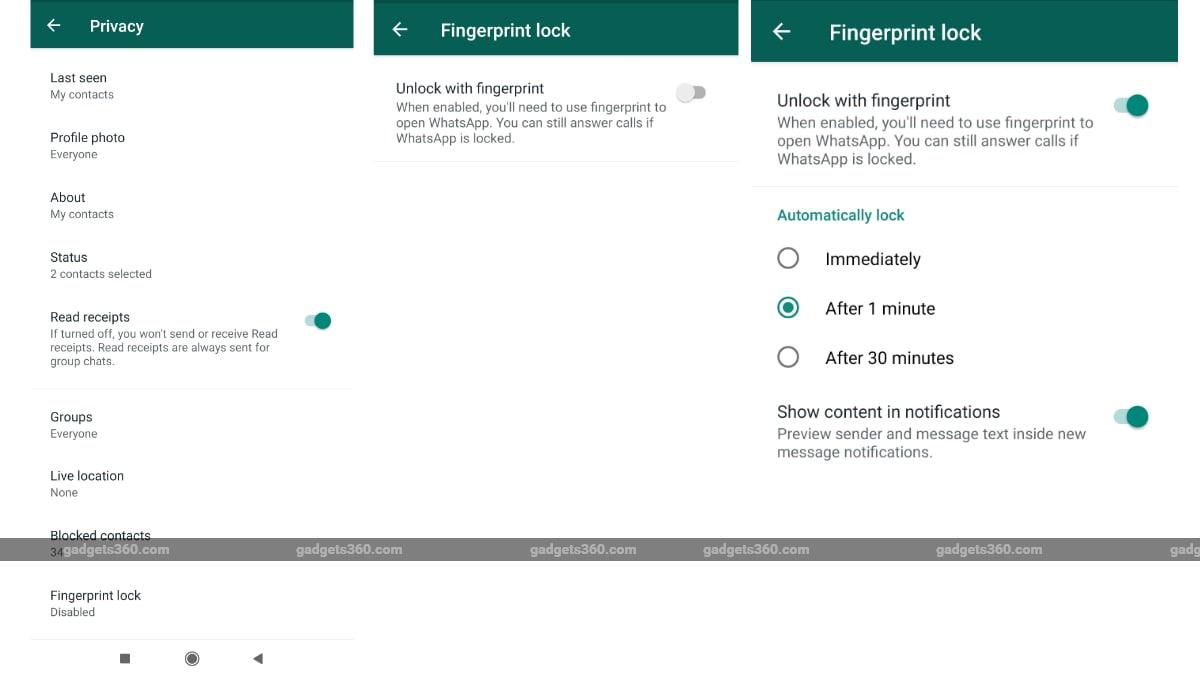 WhatsApp untuk Android Kini Sediakan Fitur Kunci Sidik Jari