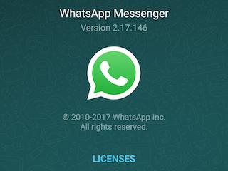 New version whatsapp update