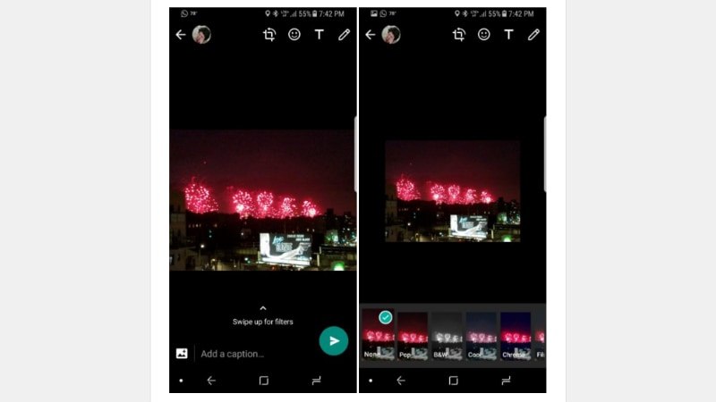 WhatsApp Photo Filters Get Tested on Android App
