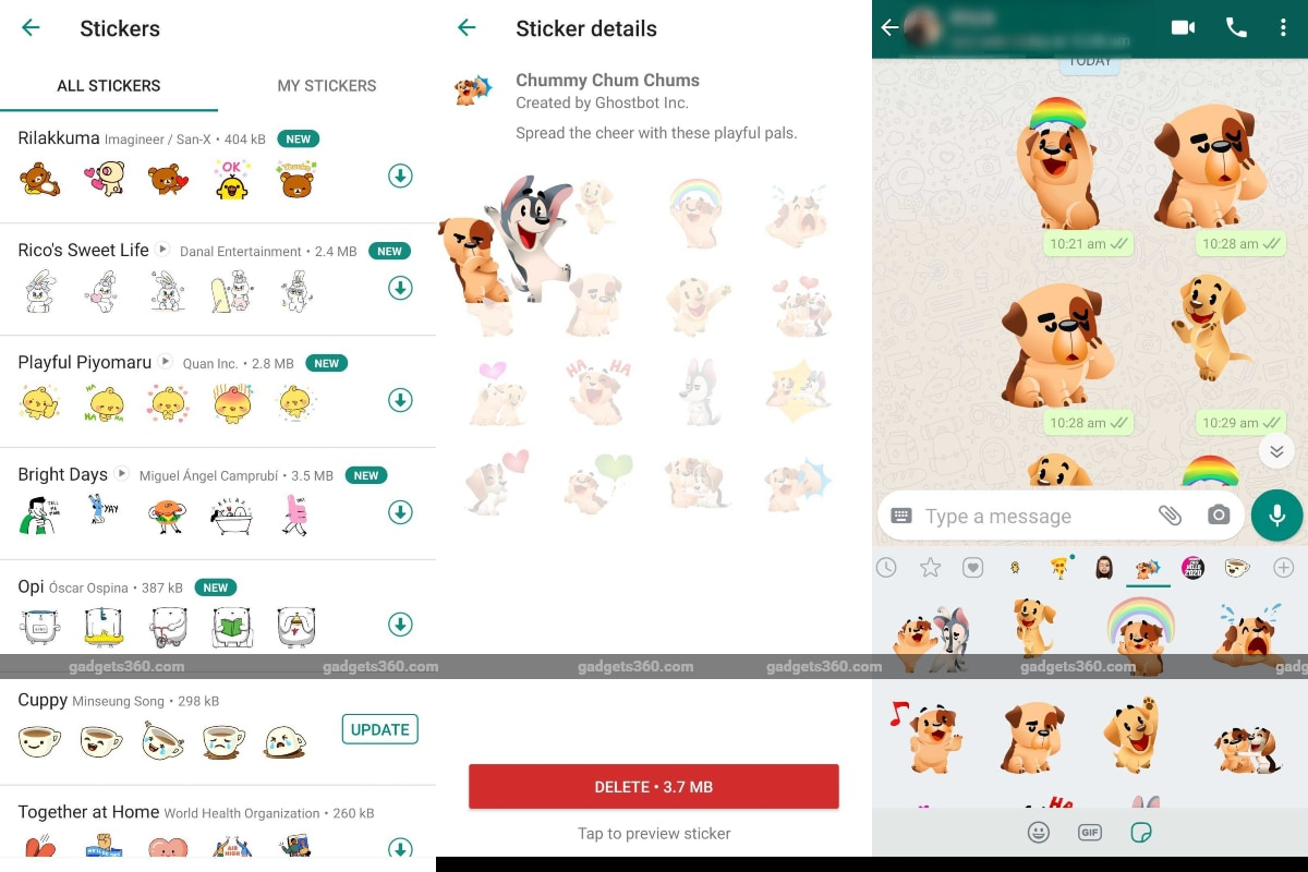 Whatsapp Rolls Out Animated Stickers Support To All Users How To Use Technology News