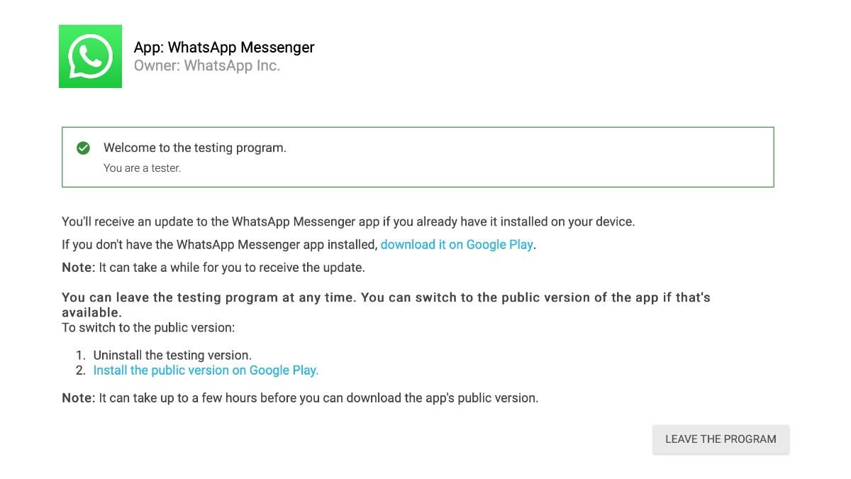 whatsapp beta tester whatsapp beta tester