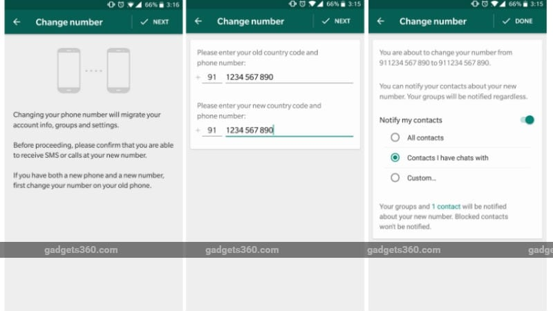 WhatsApp Makes It Easier to Inform Friends About Your New Number