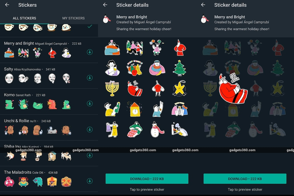 WhatsApp Adds Merry Christmas Stickers: How to Find, Share With Friends and Family