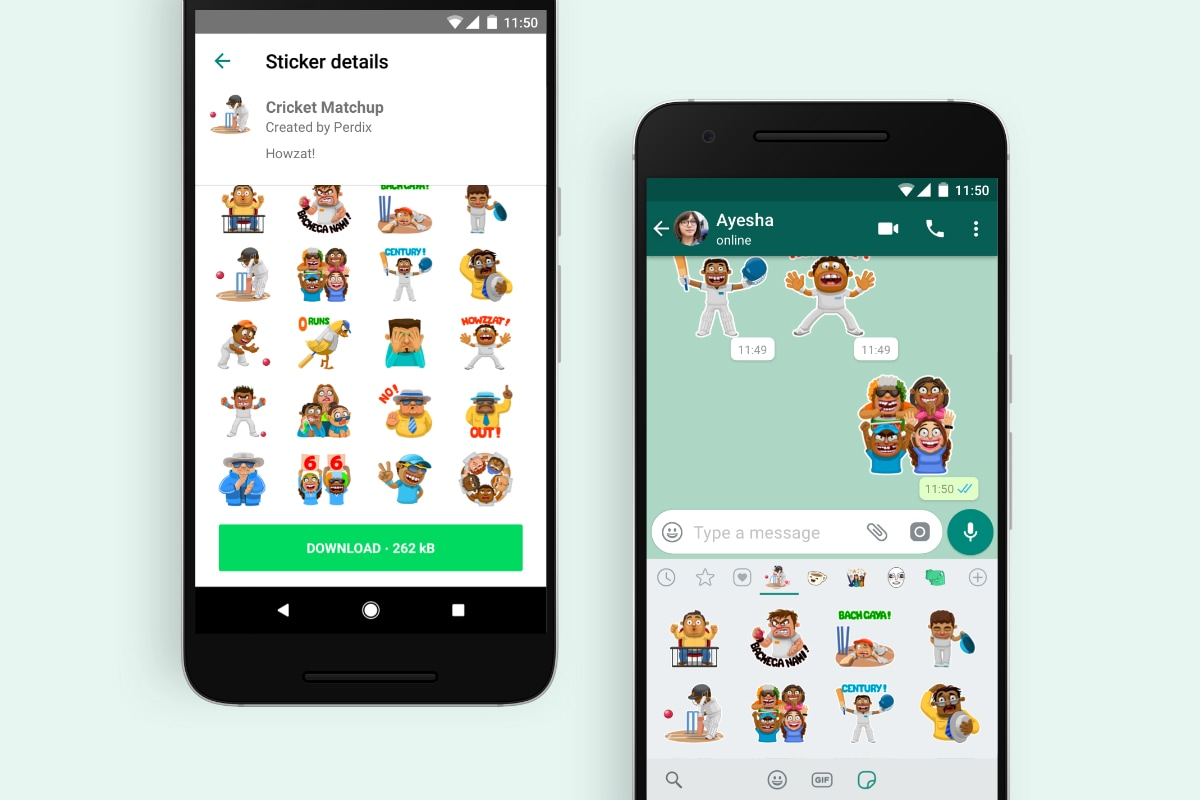 WhatsApp Cricket Stickers Launched to Celebrate IPL 2019