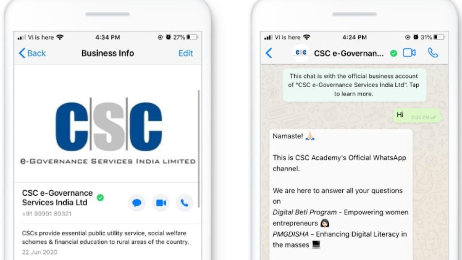 WhatsApp, CSC Launch a Chatbot to Promote Digital Literacy and Rural Entrepreneurship