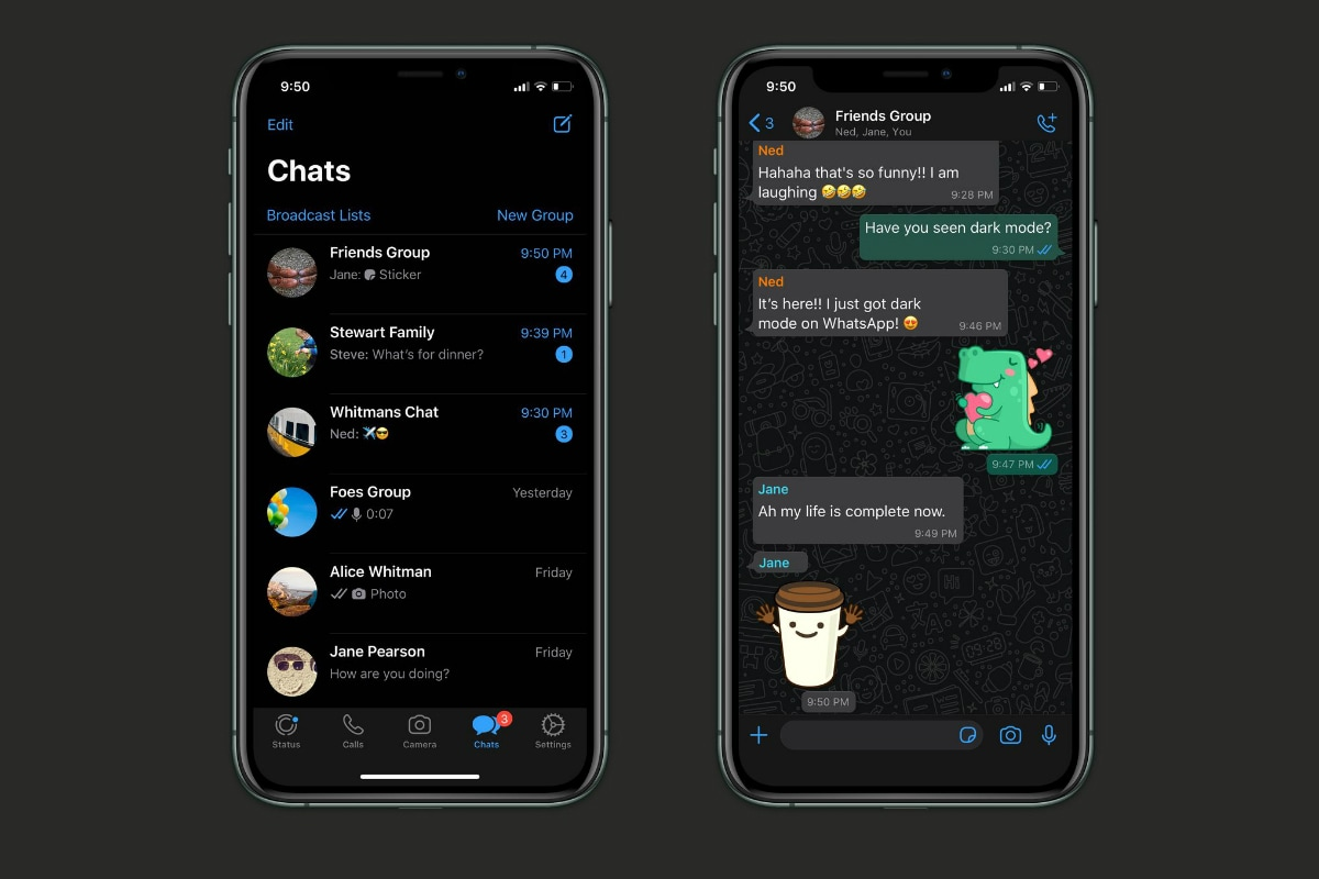WhatsApp Dark Mode Now Rolling Out to All Android, iPhone Users