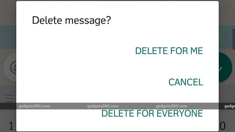 WhatsApp Delete for Everyone Feature Is Here, Here's How to Get