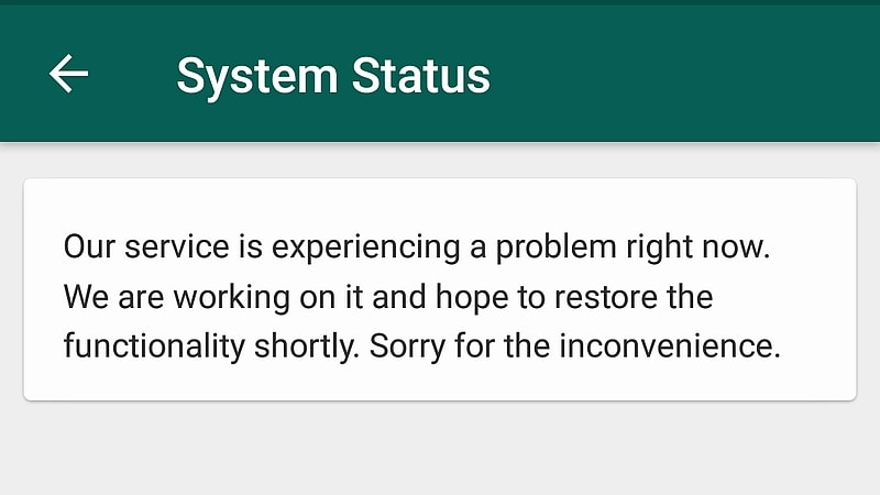 WhatsApp apologises for hour-long outage, assures normalcy