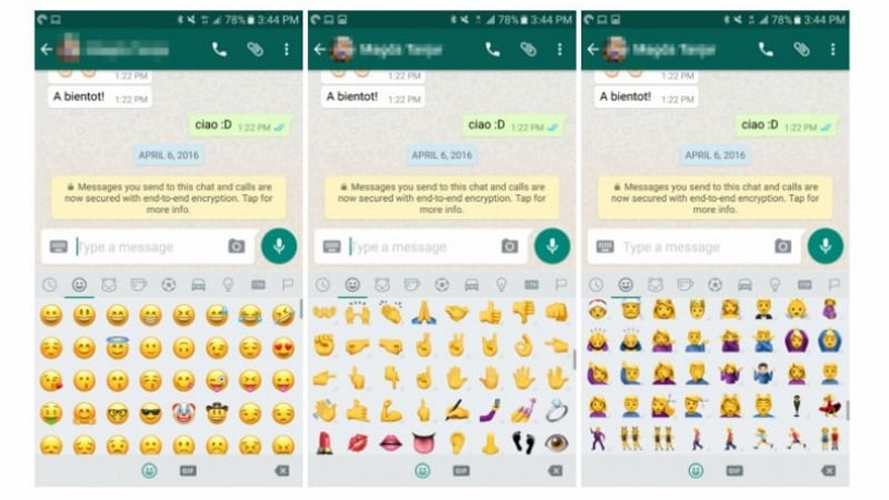 WhatsApp for Android Beta Brings Android 7.1 Emojis to Everyone